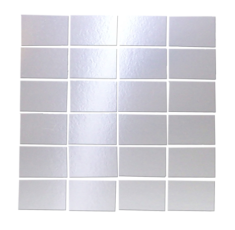 2x3 Inch Silver Mirrored Glass Tile