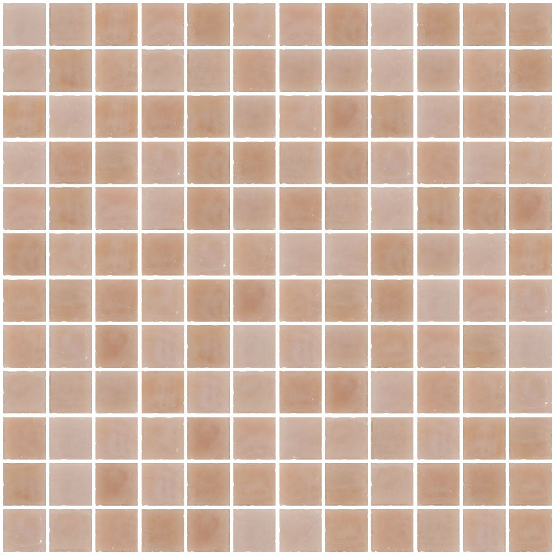 1 Inch Opaque Blush Pink Glass Tile