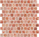 1 Inch Dusty Rose Pink Iridescent Recycled Glass Tile