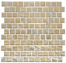 1 Inch Gold and Silver Weave Metallic Glass Tile Offset