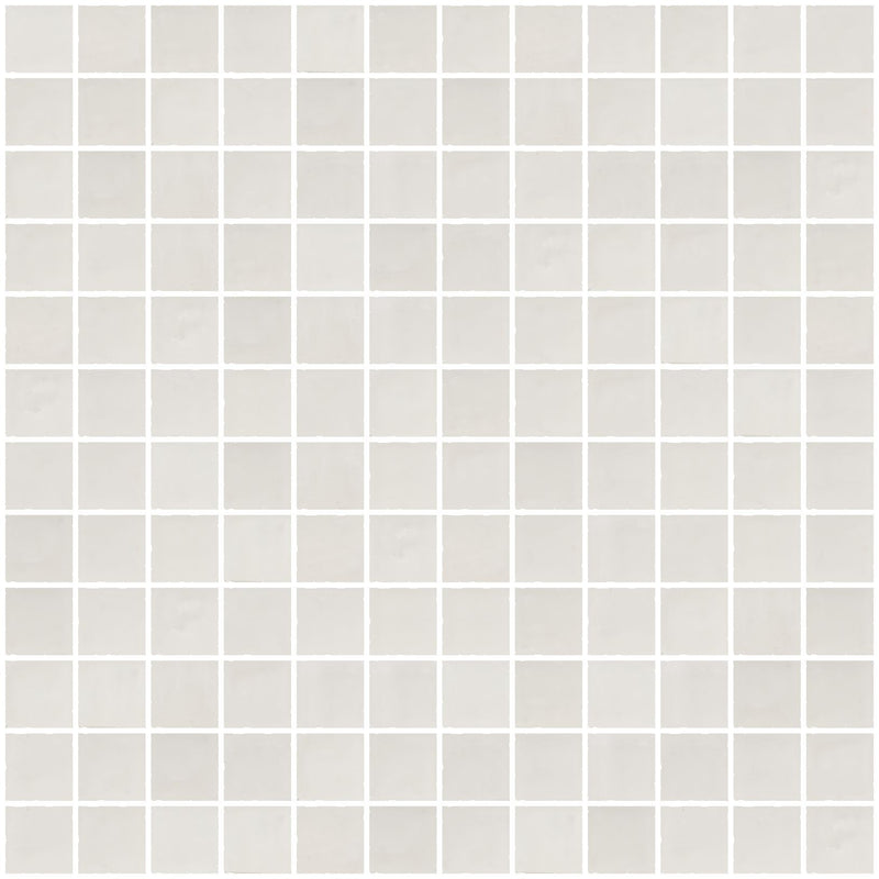 1 Inch Matte Cloud White Glass Tile