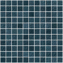 1 Inch Denim Blue Metallic Glass Tile