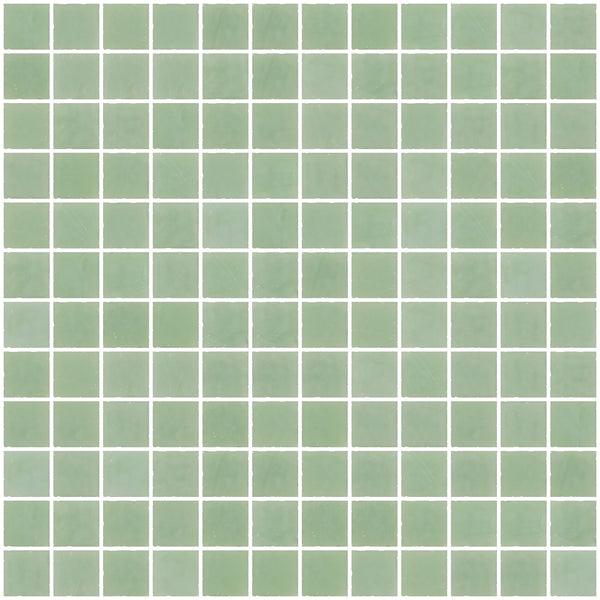 1 Inch Opaque Jadeite Green Glass Tile
