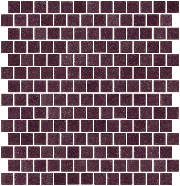 3/4 Inch Medium Lavender Purple Glass Tile  Reset In Offset Layout