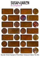 Quarter Sheet Sample of Root Beer Iridescent Glass Tile Mix