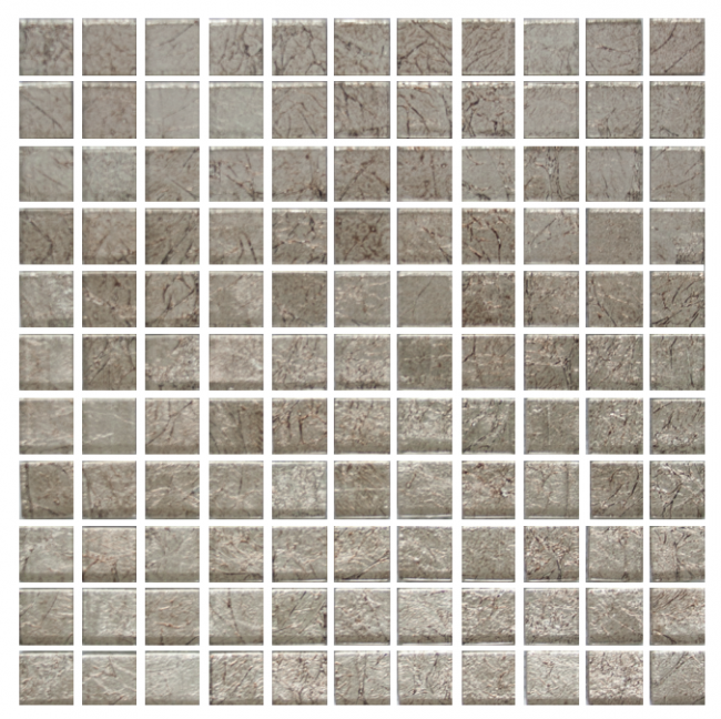 1 Inch Espresso Brown Satin Metallic Glass Tile