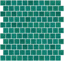 1 Inch Aqua Green Glitter Glass Tile Offset