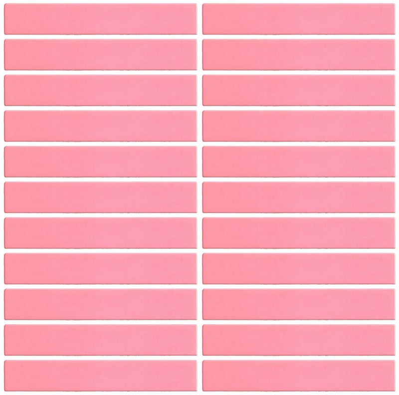 1x6 Inch Coral Pink Glossy Glass Subway Tile