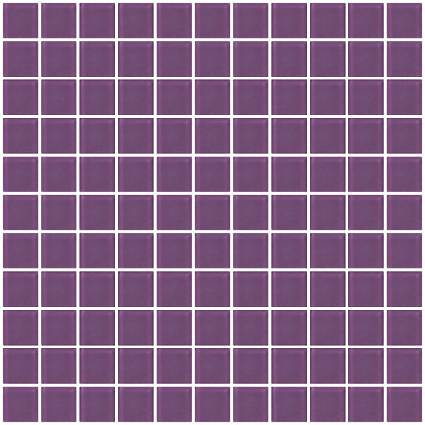1 Inch Lavender Purple Frosted Glass Tile