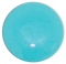 1-INCH ROUND Turquoise Blue opaque FUSED GLASS ACCENT TILE
