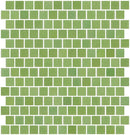 3/4 Inch Yellow Green Sage Glass Tile Reset In Offset Layout