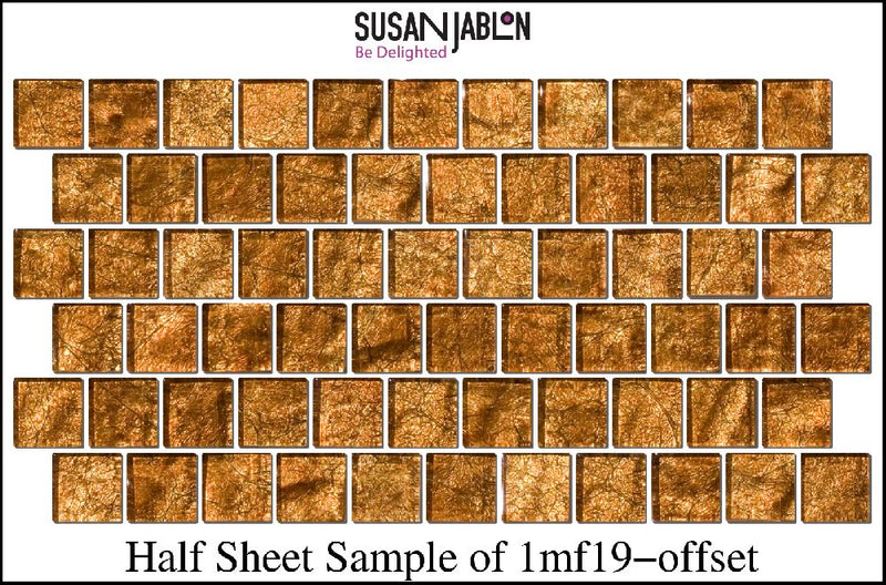 Half Sheet Sample of 1MF19-offset