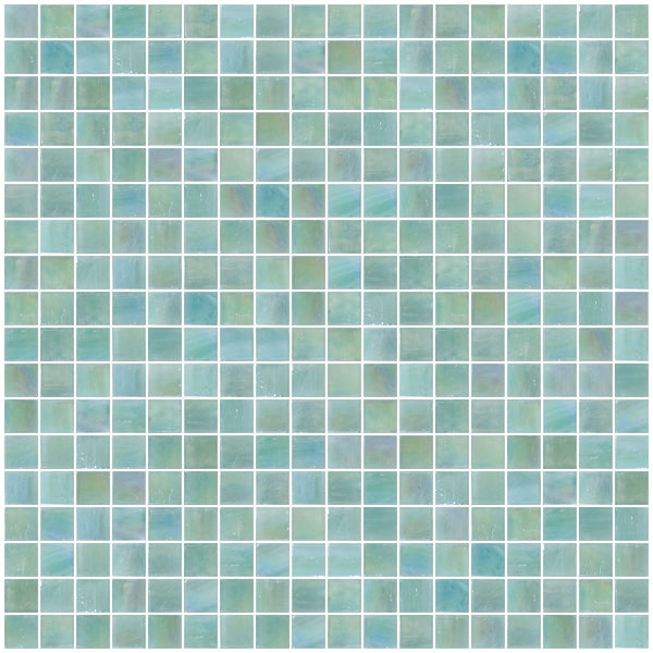5/8 Inch Gray Green Iridescent Glass Tile