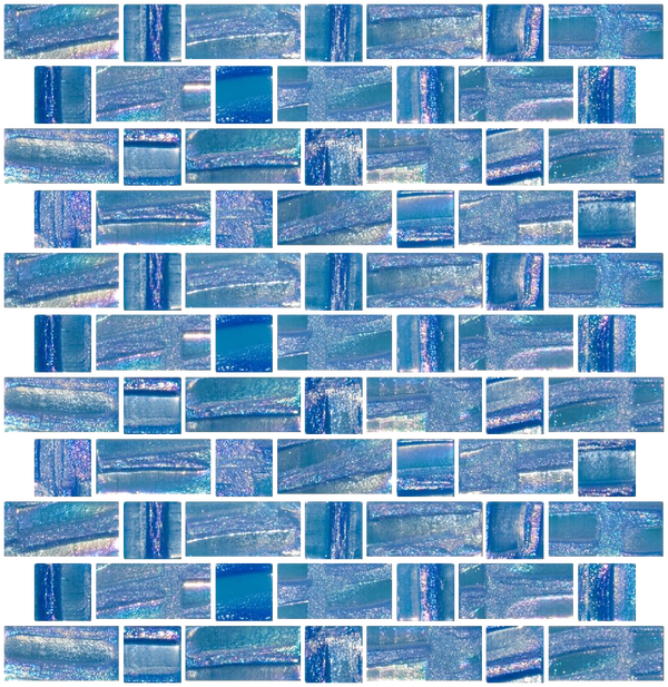 Iridescent Deep Aqua Recycled Glass Tile