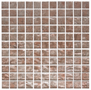 1 Inch Silver Taupe Metallic Glass Tile