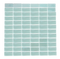 1 x 2-Inch Sky Blue Glow In The Dark Recycled Glass Tile