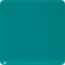 2 Inch Square Turquoise Opaque Fused Glass Accent Tile