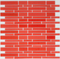 Red Linear Glass Tile Blend