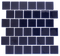 2x2 Inch Navy Blue Glass Tile Offset