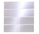 3X6 INCH SILVER MIRRORED GLASS TILE stacked