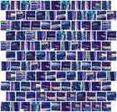 1 Inch Cobalt Indigo Textured Recycled Glass Tile Offset