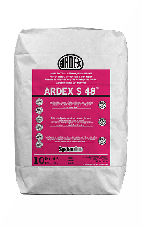 Ardex S 48 White Rapid-Set Thin Set Mortar/Mastic Hybrid 10 lb Bag