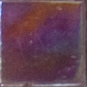 Sample of 5/8 Inch Dark Brown Iridescent Glass Tile