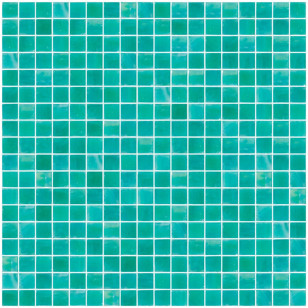 5/8 Inch Sea Foam Green Iridescent Glass Tile