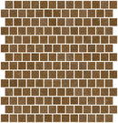 3/4 Inch Dark Caramel Brown Glass Tile Reset In Offset Layout