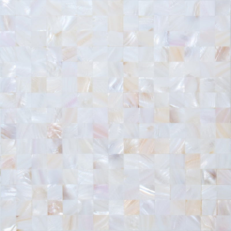 3/4 Inch Peach White Shell Tile