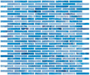 1/4 Inch Sky Blue Stained Glass Subway Tile