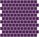 1 Inch Lavender Purple Glass Tile Reset In Offset Layout