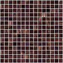 3/4 Inch Merlot Red Gold Marbled Glass Tile