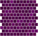 1 Inch Purple Violet Glitter Glass Tile Offset