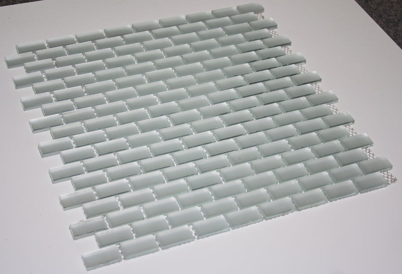 5/8 Inch Silver Frosted Mirror Glass Subway Tile