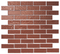 1x3 Copper Brown Metallic Glass Tile