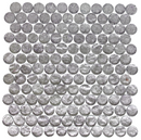 1 Inch Round Lavender Pearl Metallic Glass Tile Offset