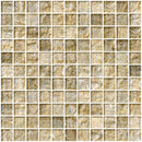 1 Inch Gold and Silver Weave Metallic Glass Tile