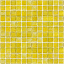 1 Inch Transparent Sunshine Yellow Glass Tile