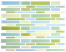 Light Blue Mint and Celery Linear Glass Tile Mix