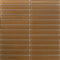 Sheet of 1x6 Inch Tobacco Brown Glass Subway Tile
