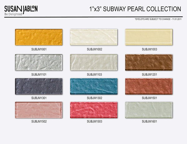 1x3 Inch Bijou Pearl Subway Sample Board