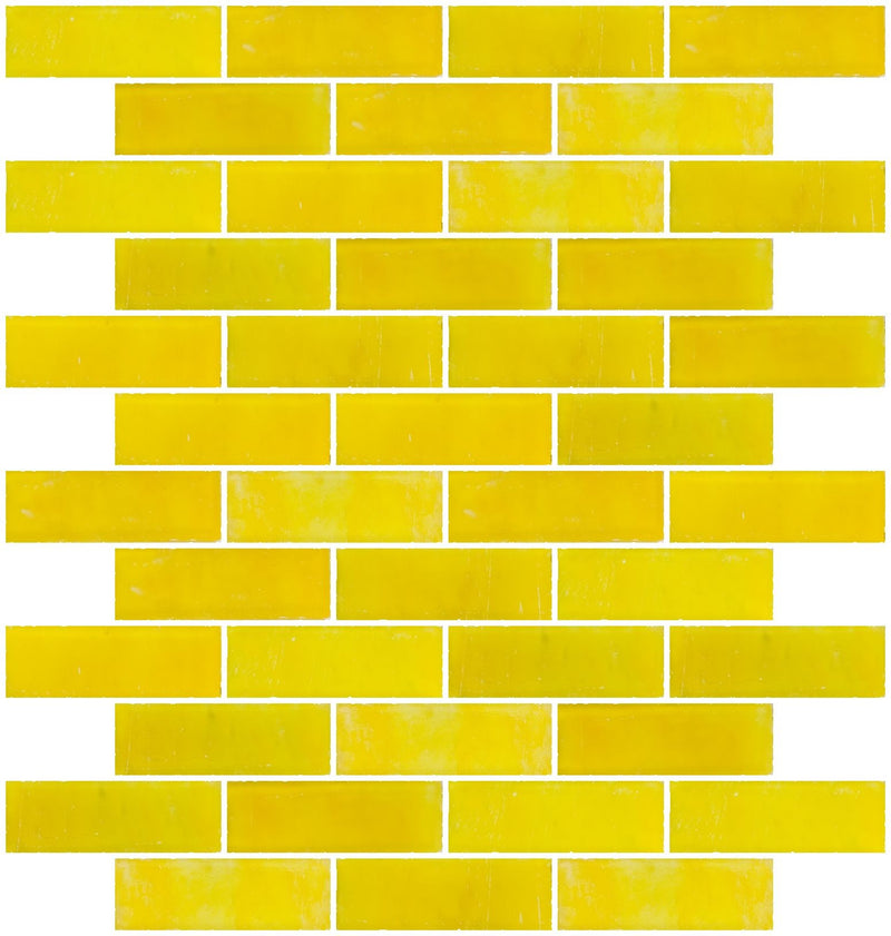 1x3 Inch Matte Sunshine Yellow Glass Subway Tile