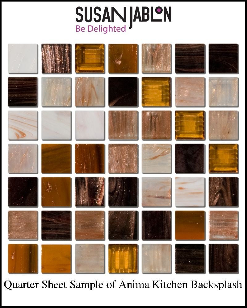 Quarter Sheet Sample of Anima Kitchen Backsplash