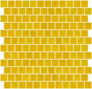 1 Inch Matte Deep Sunshine Yellow Glass Tile Reset In Offset Layout
