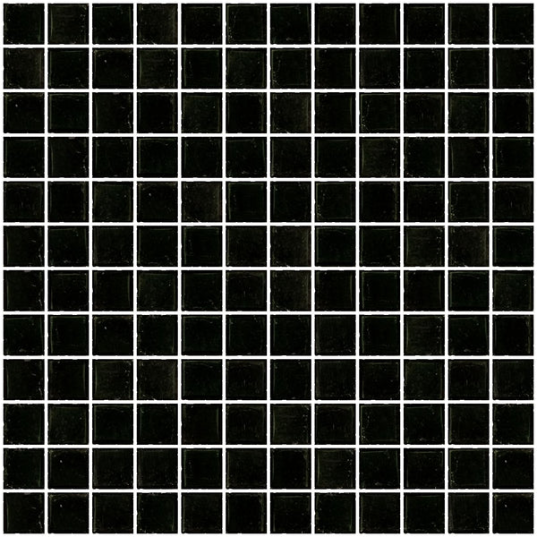 1 Inch Transparent Black Glass Tile