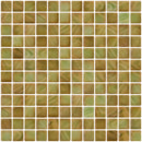1 Inch Onyx Green Iridescent Recycled Glass Tile