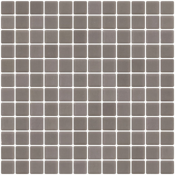 1 Inch Gray Recycled Glass Tile