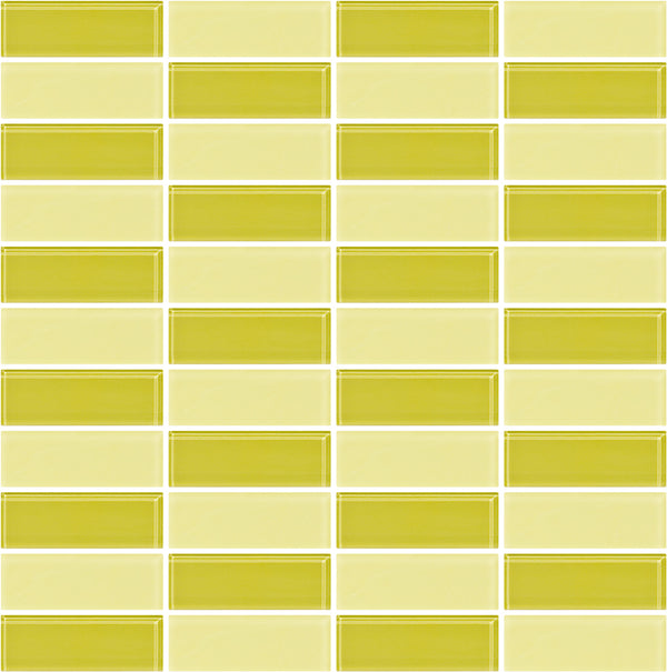 Tuxedo Light Lime Mosaic Tile Design