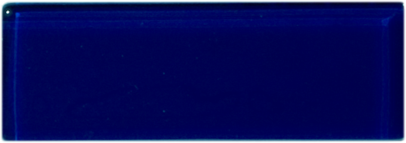 Sample of 1x3 Inch Navy Blue Glass Subway Tile Stacked